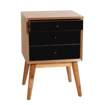Malcolm End Table Color: Black