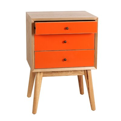 Malcolm End Table Color: Orange