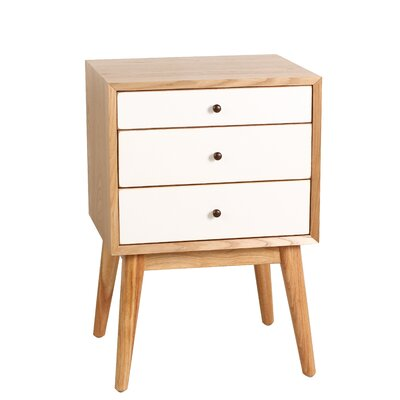 Malcolm End Table Color: White