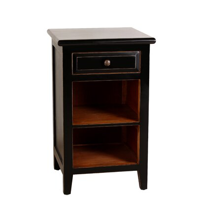 Xander End Table Color: Black