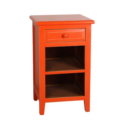 Xander End Table Color: Orange
