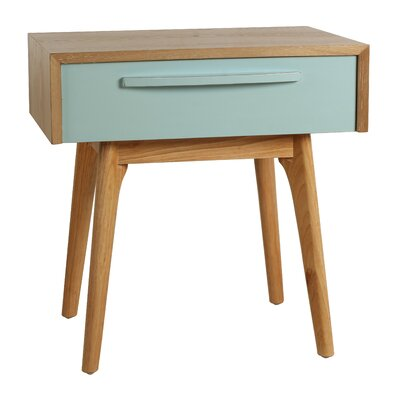 Maximilian End Table Finish: Aqua