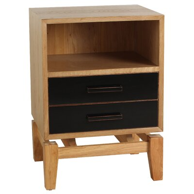 Zander End Table Finish: Black