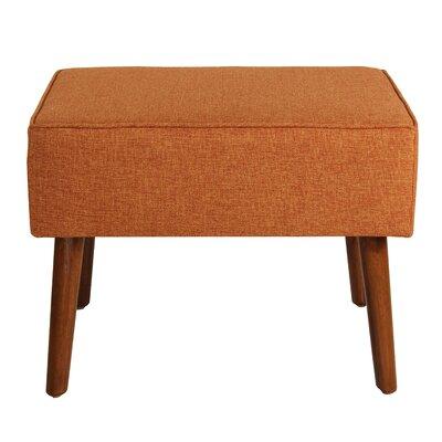 Cassady Ottoman Upholstery: Orange