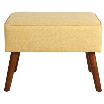 Cassady Ottoman Upholstery: Yellow