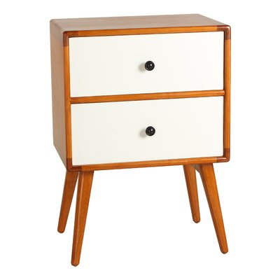 Tristan End Table Color: White
