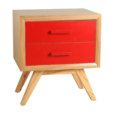Braxton End Table Finish: Red