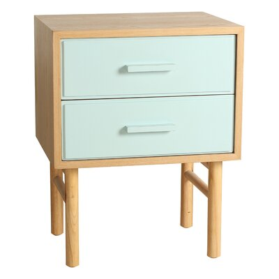 Keegan End Table Finish: Aqua