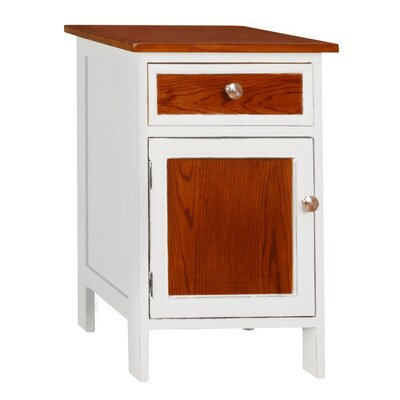 Morrison End Table Color: White