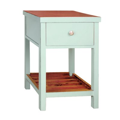 Pari End Table Color: Aqua