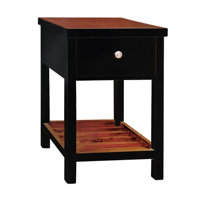 Pari End Table Color: Black