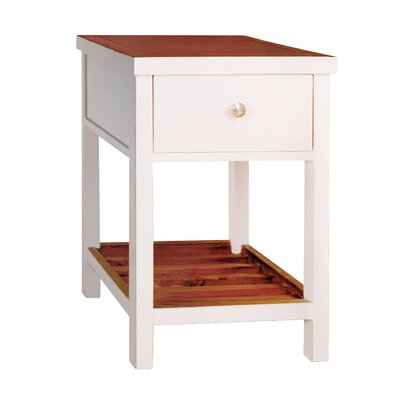 Pari End Table Color: White