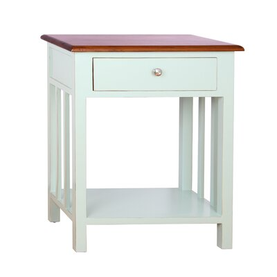 Emerson End Table Finish: Aqua