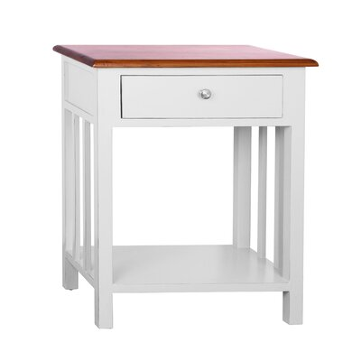 Emerson End Table Color: Bright White