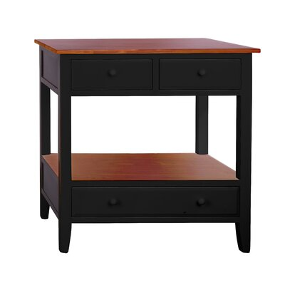 Pauline 3 Drawer Console Table Finish: Black