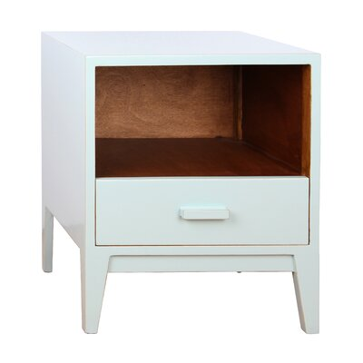 Jude 1 Drawer Nightstand Color: Aqua