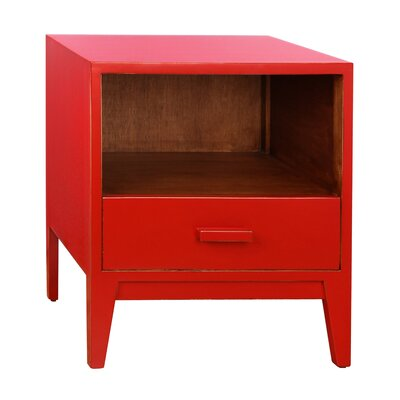 Jude 1 Drawer Nightstand Color: Red