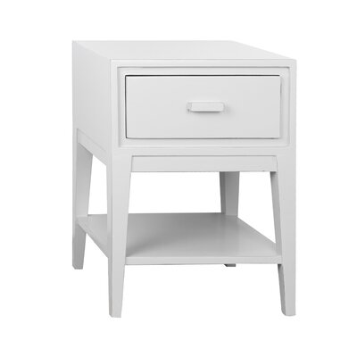 Enid 1 Drawer Nightstand Color: White