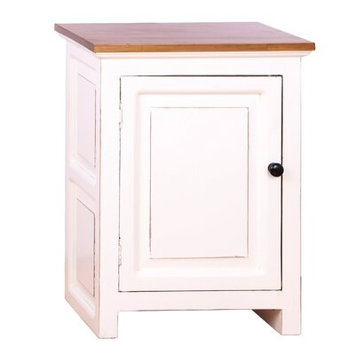 Curtis End Table Color: White