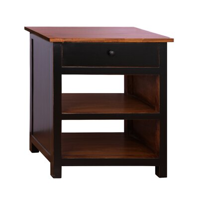 Oliver End Table Color: Black