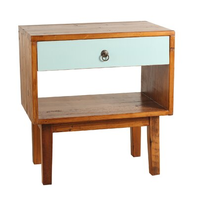 Shiloh End Table Color: Aqua