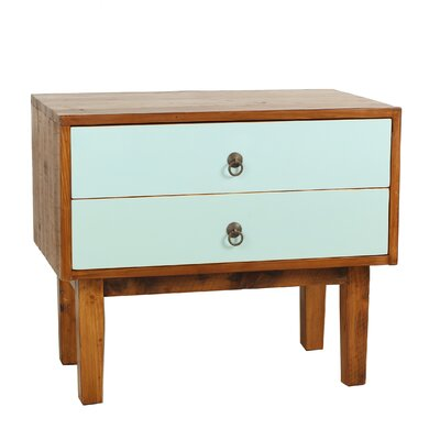 Marina End Table With Storage� Color: Aqua
