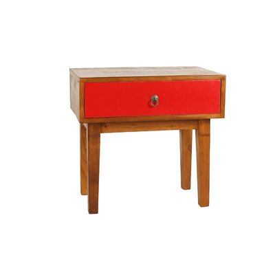 Giana End Table Finish: Red