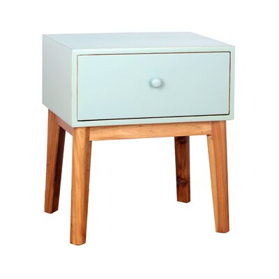 Mina End Table Finish: Aqua