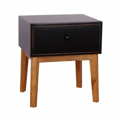 Connell End Table Color: Black