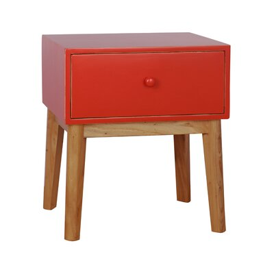 Mina End Table Finish: Red