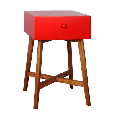 Julia End Table Finish: Red