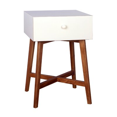 Julia End Table With Storage� Color: White