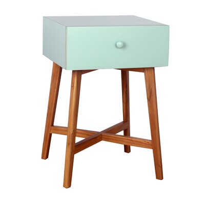 Julia End Table Finish: Aqua