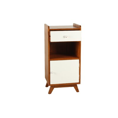 Penny Lane End Table Color: White