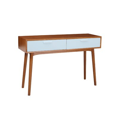 Carla Console Table Color: Aqua