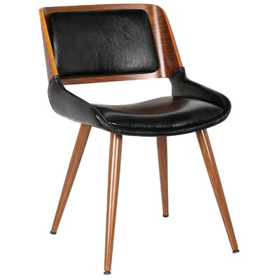 Basil Side Chair Upholstery: Polished Obsidian