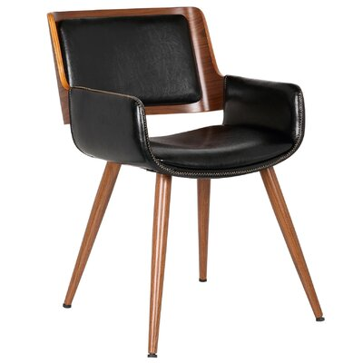 Finnick Leisure Armchair Upholstery: Polished Obsidian