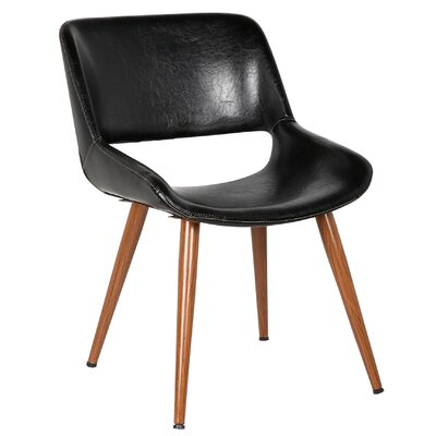 Shane Leisure Side Chair Color: Polished Obsidian