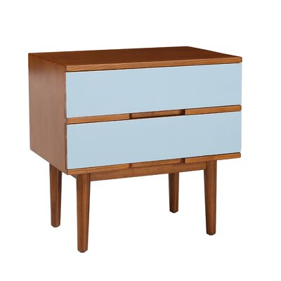 Sabrina End Table Color: Aqua