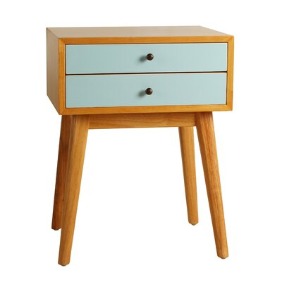 Gloria End Table Color: Aqua