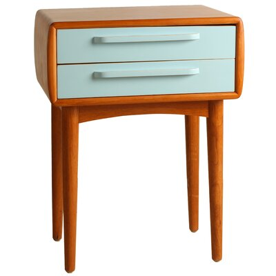 Amelia End Table Color: Aqua