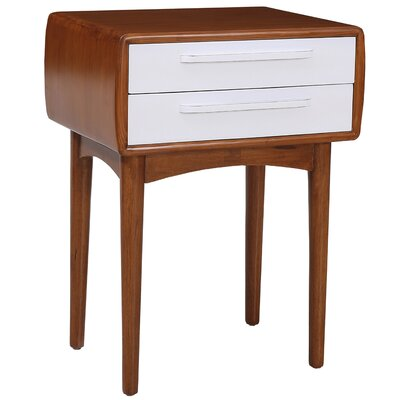 Amelia End Table Color: White