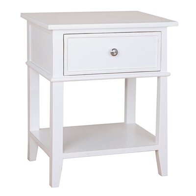 Julian End Table Color: White