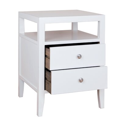 Hana End Table Color: White