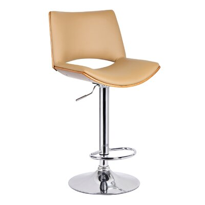 Adjustable Height Swivel Bar Stool Upholstery: Desert Sandstone