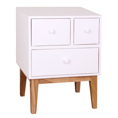 Zooey End Table Finish: White