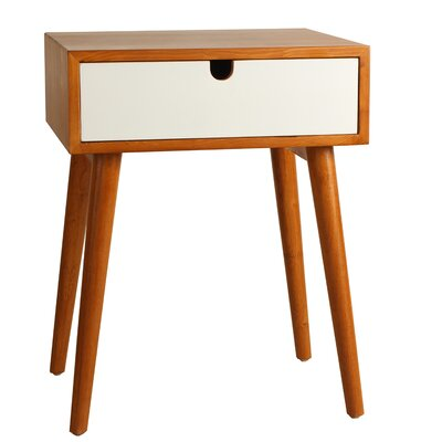 Holland End Table Color: White