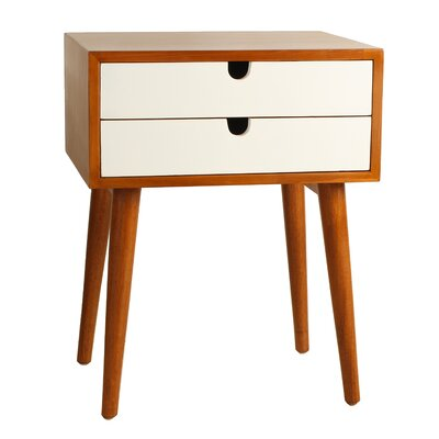 Ravel End Table Color: White