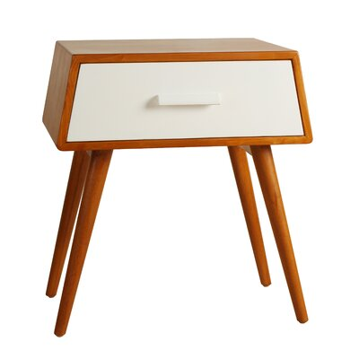 Brooklyn End Table Color: White