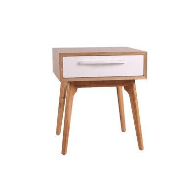 Lorraine End Table Color: White